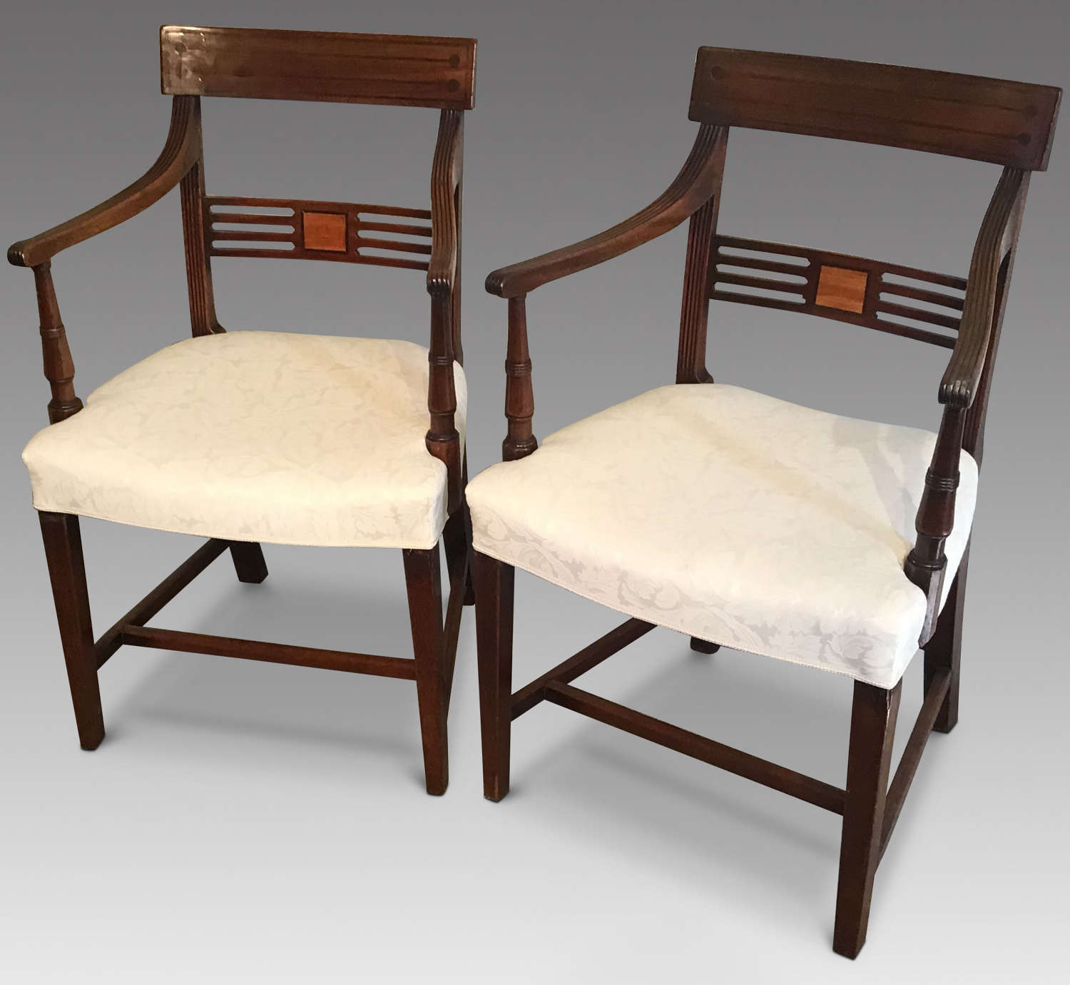 Pair GeoIII Elbow Chairs