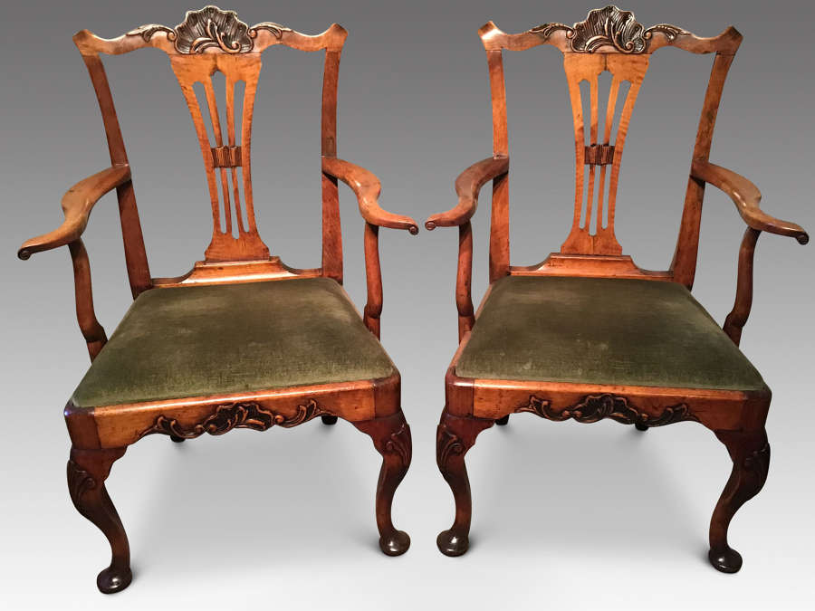 Pair Elbow Chairs