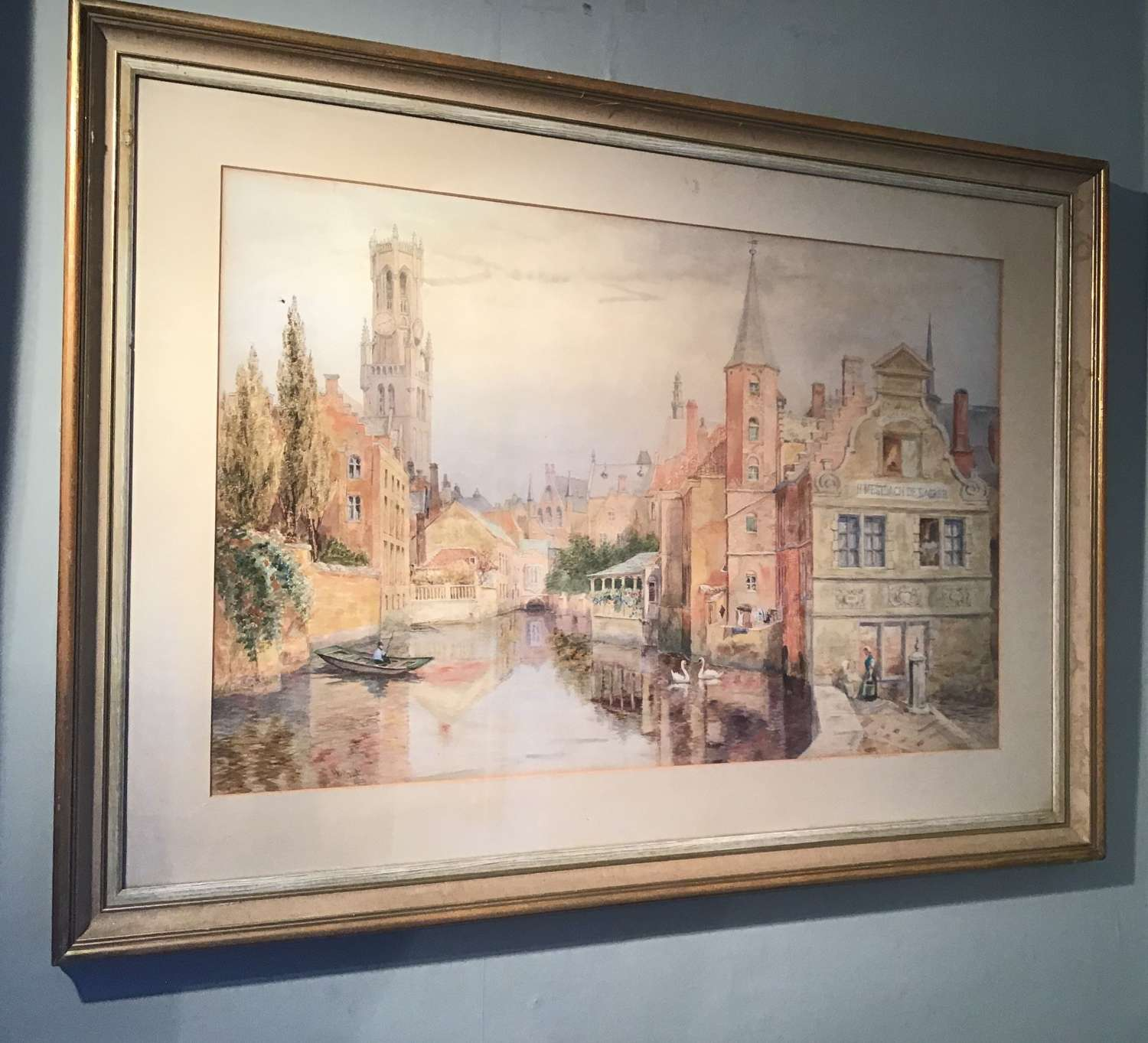 Watercolour by Sir Hubert Medleycott.