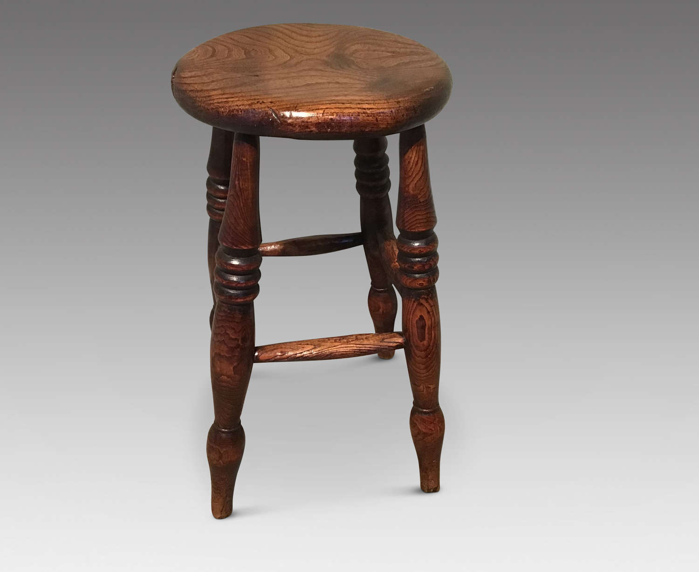 Victorian elm stool
