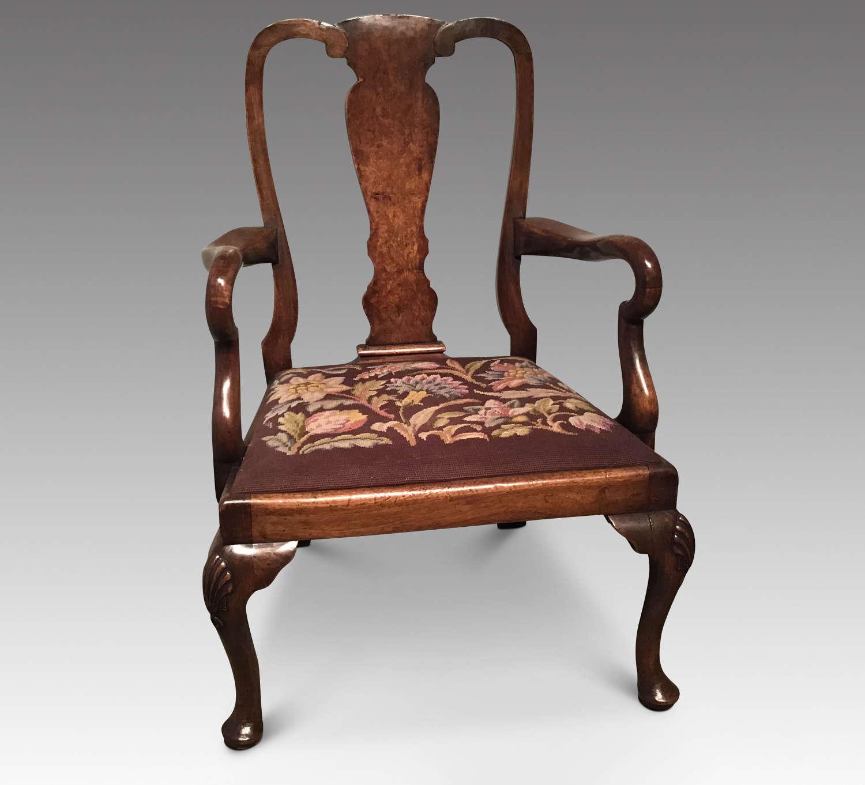 Walnut childs chair
