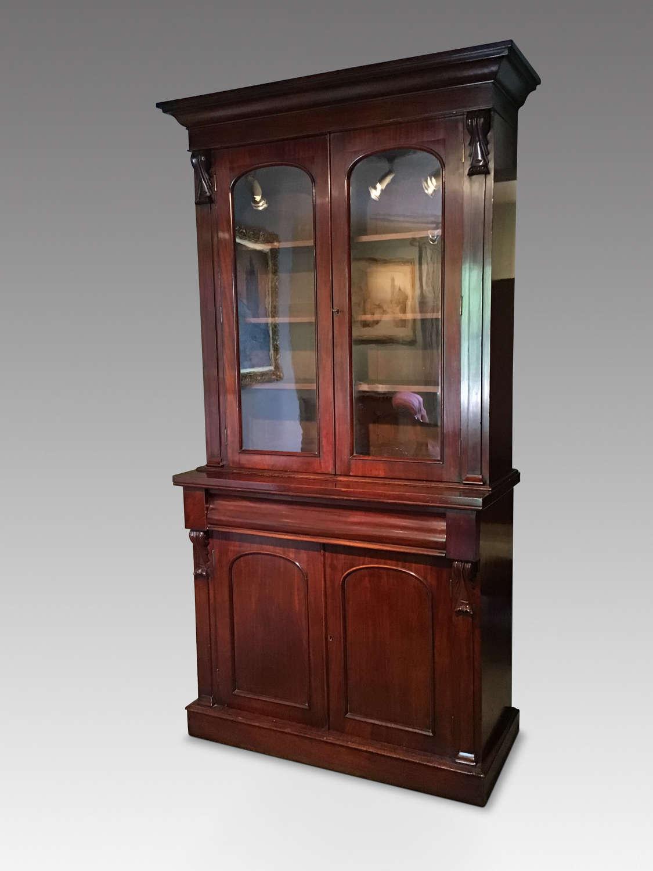 Victorian mahogany bookcase.