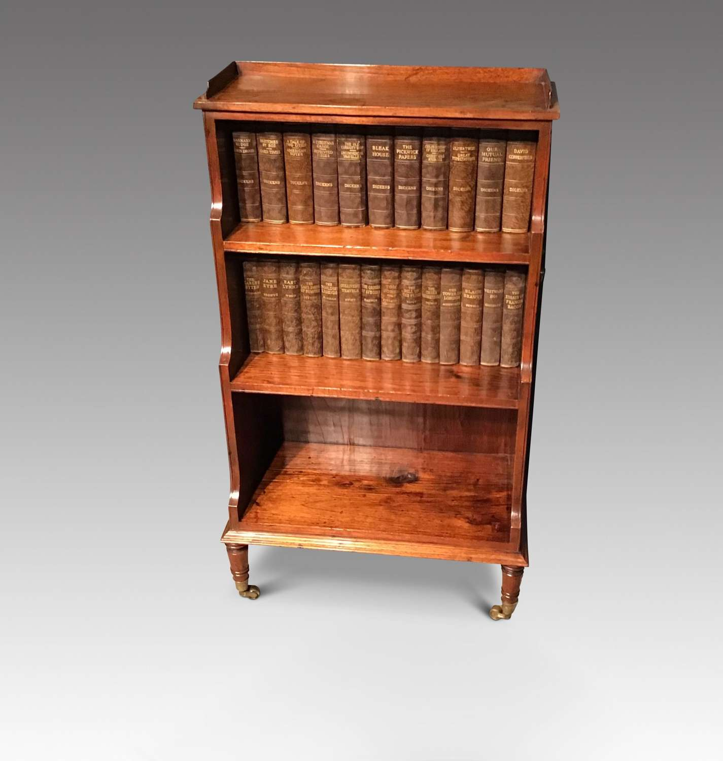 Antique waterfall bookcase