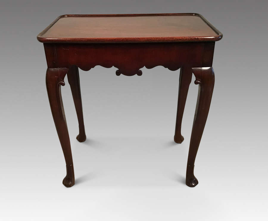 Antique mahogany silver table