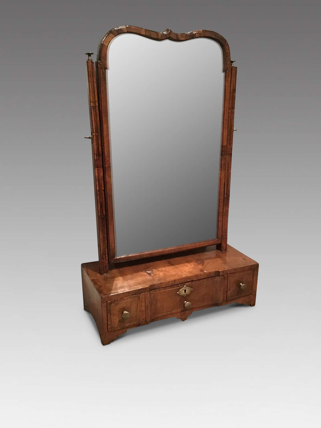 Georgian walnut toilet mirror