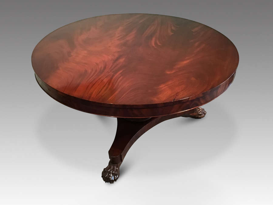 William IV mahogany breakfast table