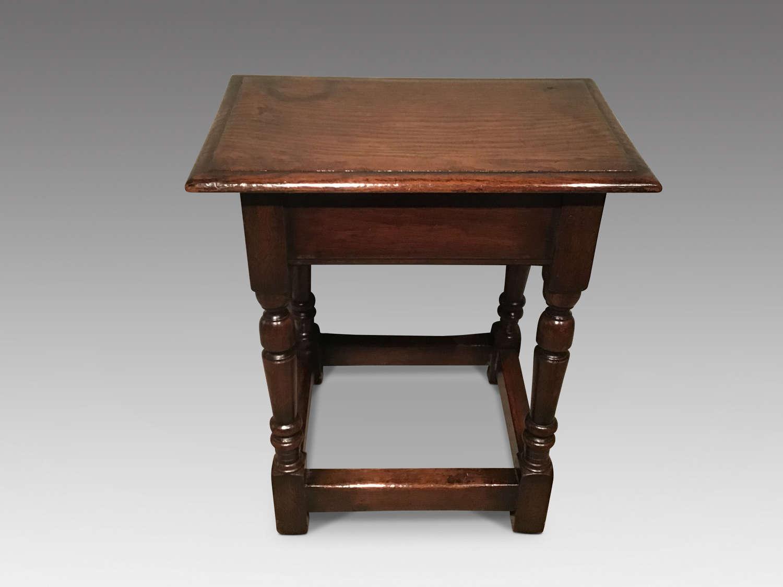 Antique oak stool