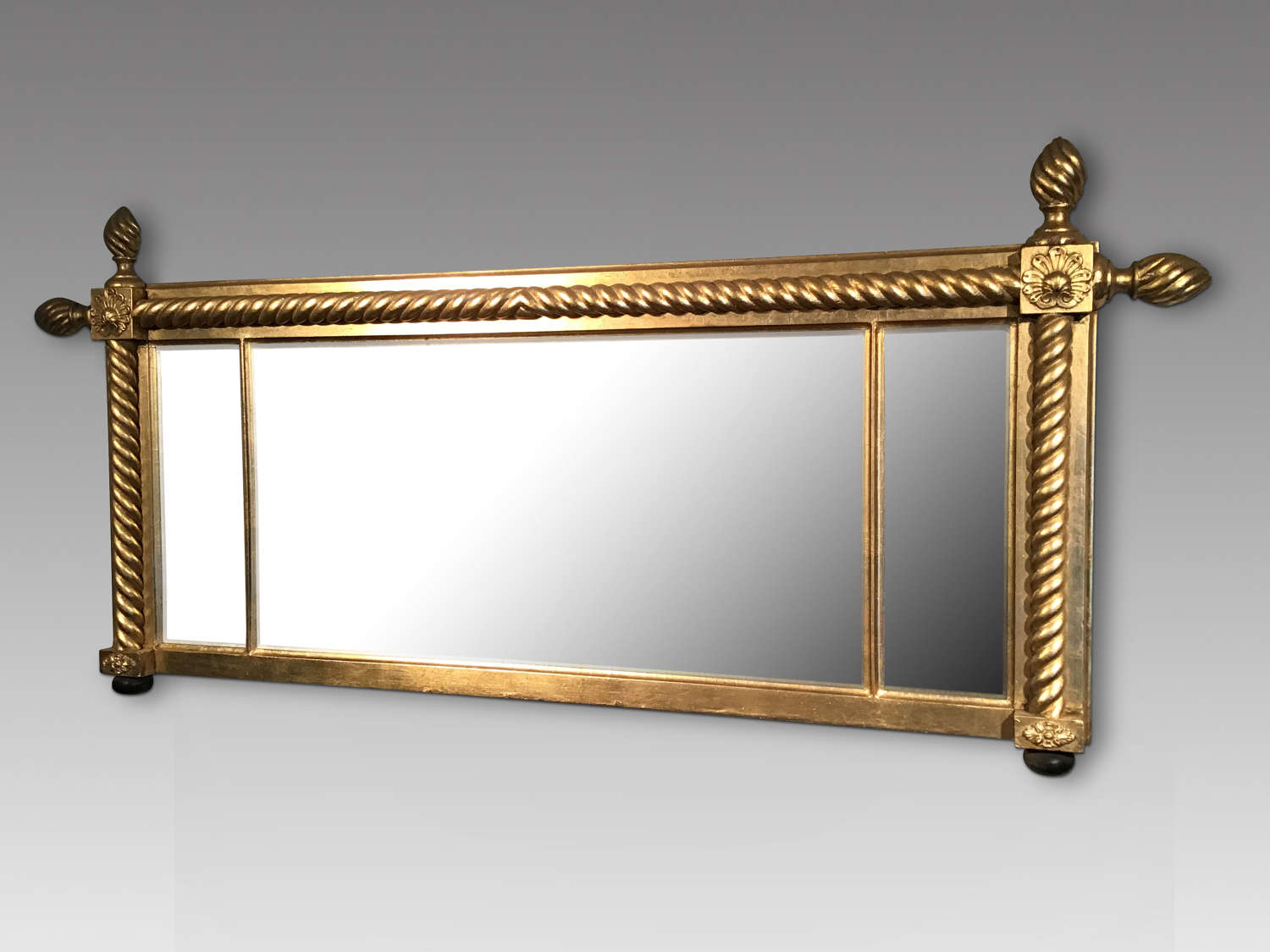 Antique gilt overmantel mirror