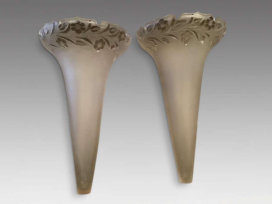 Antique epergne vases