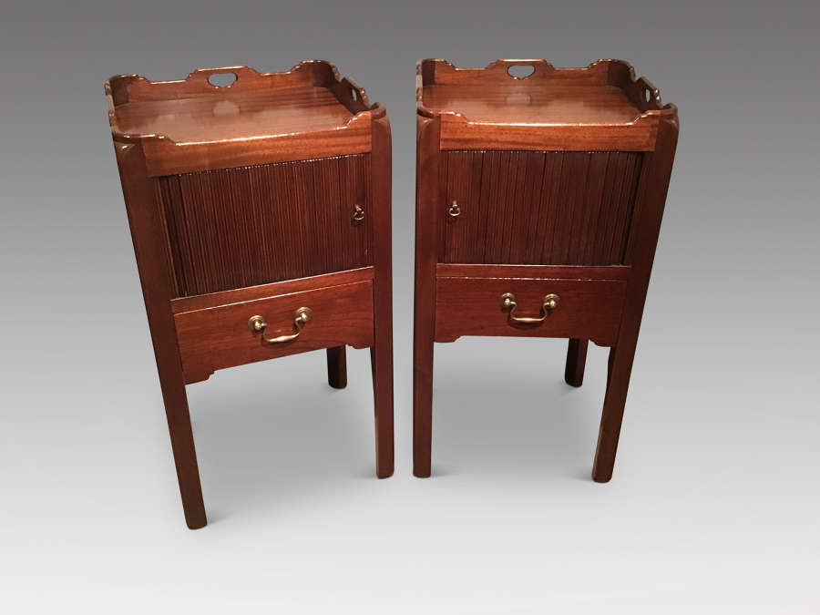 Pair of Georgian design bedside cabinets
