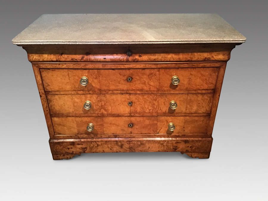Antique French burr ash commode.