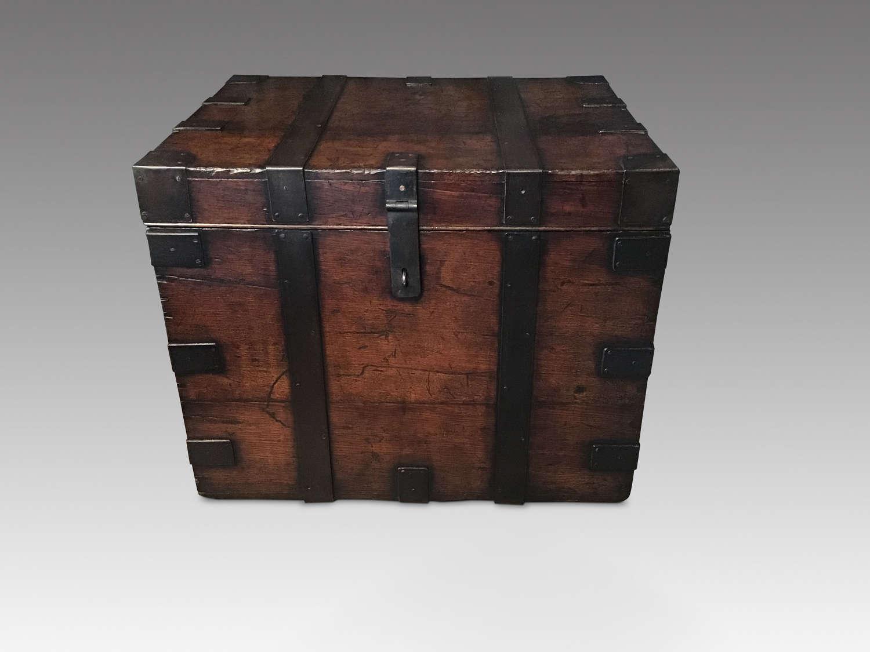 Antique Victorian oak silver chest