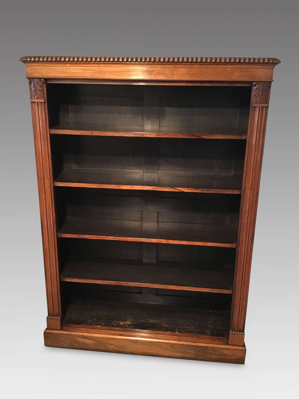 William IV rosewood open bookcase.