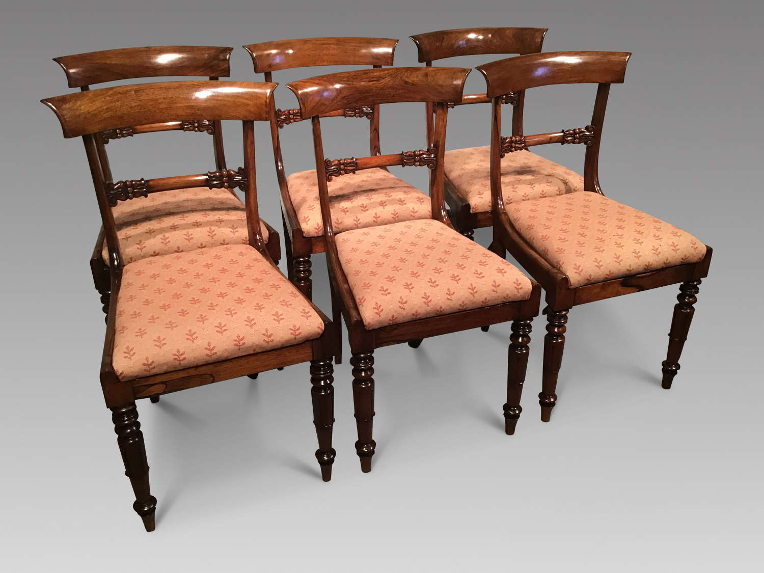 Set of William IV rosewood chairs