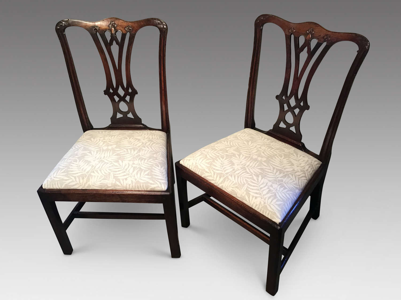 Pair of Georgian sidechairs