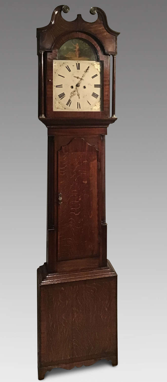 Georgian oak longcase clock