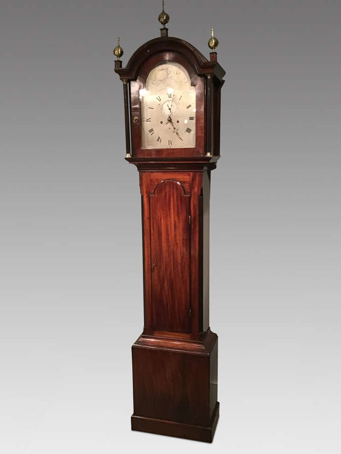 Antique mahogany longcase clock