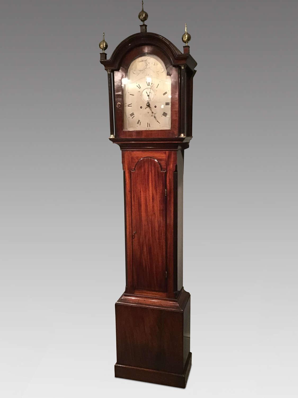Antique mahogany longcase clock