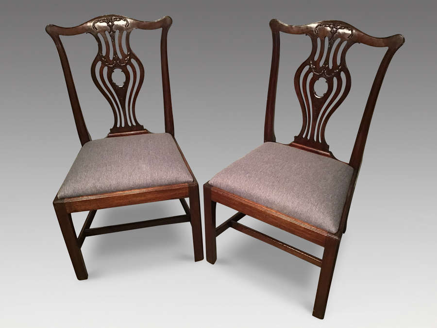 Pair of Georgian mahogany sidechairs