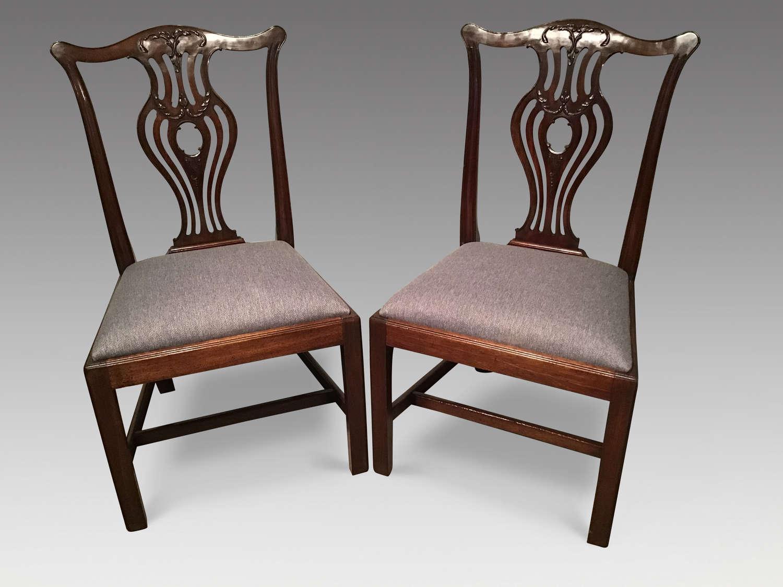 Pair of Georgian mahogany sidechairs
