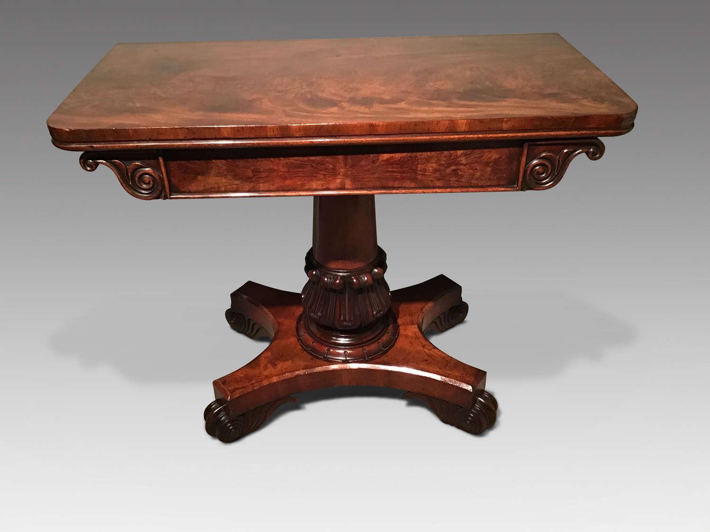 William IV card table