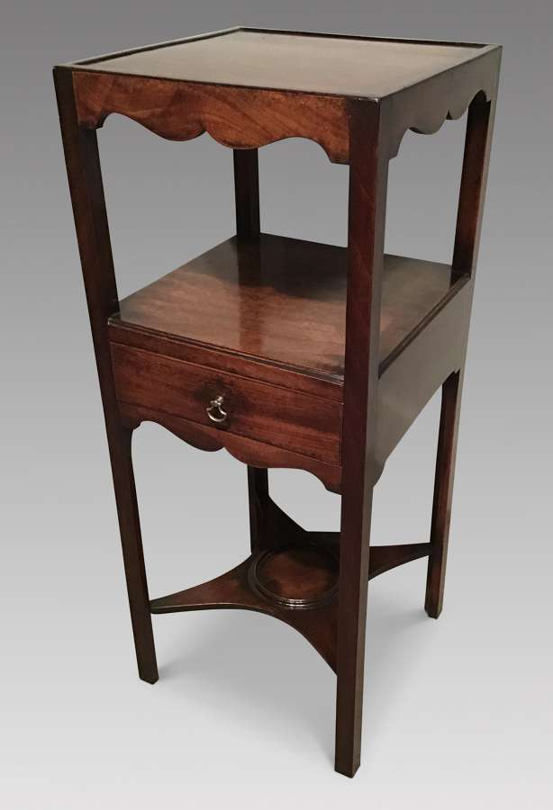 Antique mahogany washstand.