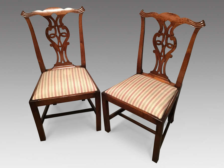 Pair of Georgian sidechairs