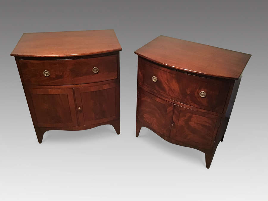 Matched pair antique bedside commodes