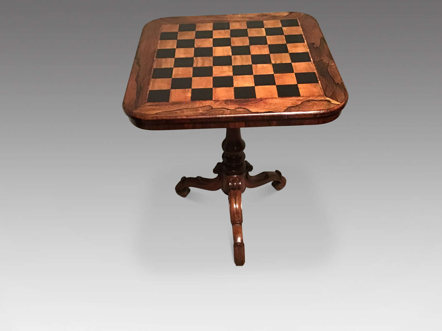 Antique rosewood chess table