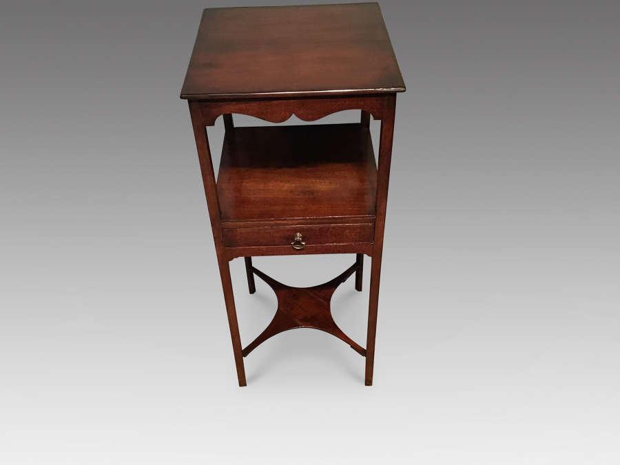 Antique mahogany bedside table
