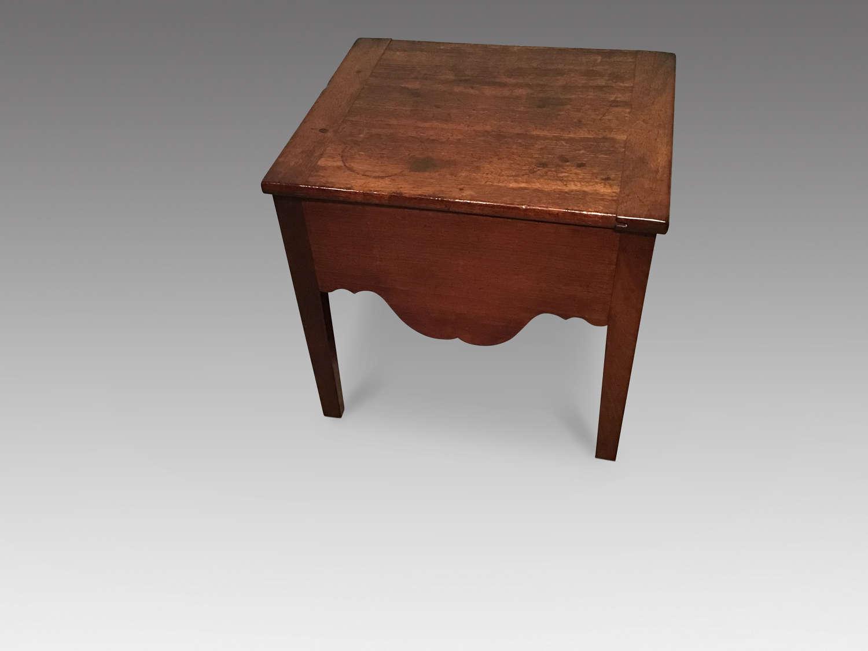 Antique mahogany stool