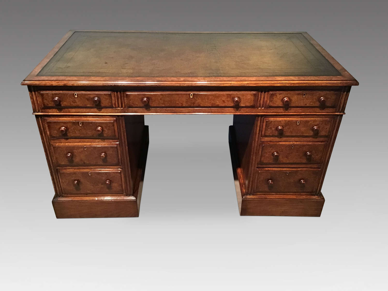 Antique pedestal desk