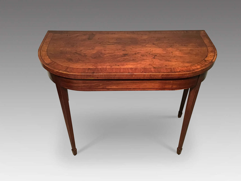 Georgian rosewood card table