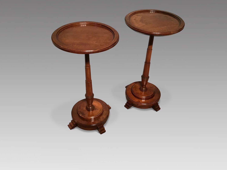Pair of antique wine tables