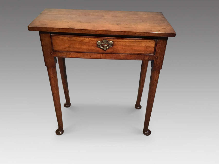 Antique fruitwood sidetable