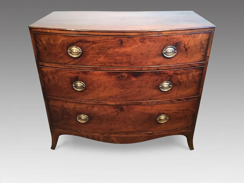 Regency mahogany bow chest