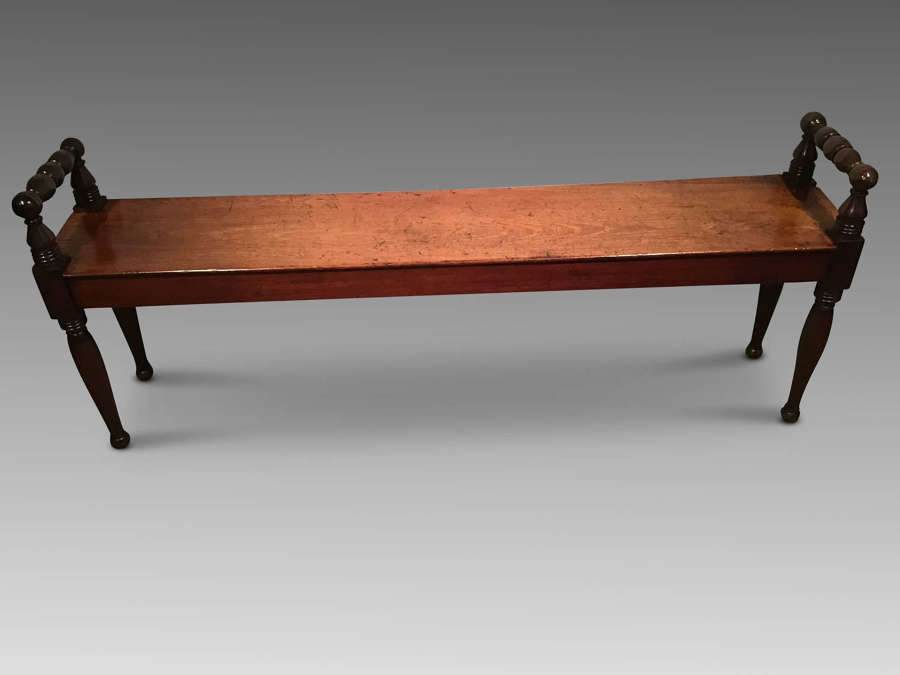 Antique mahogany hall bench