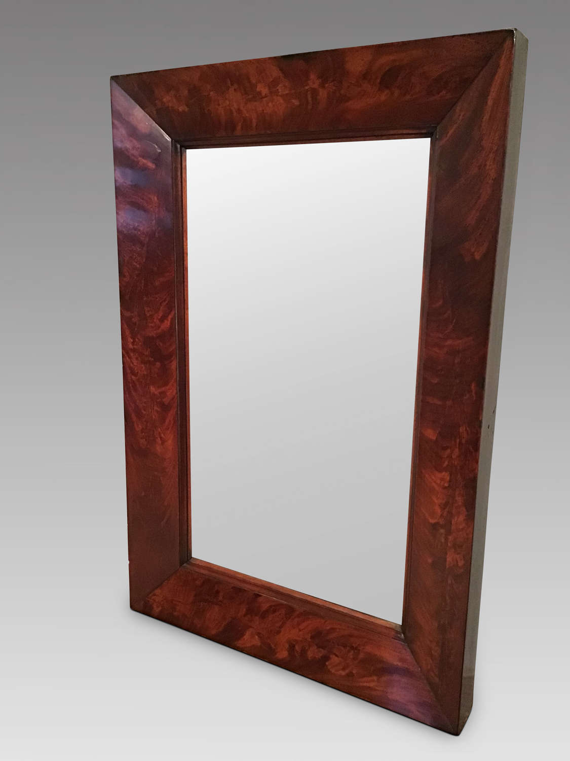 Antique mahogany hanging mirror