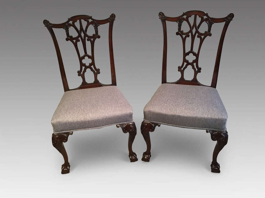 Pair of mahogany sidechairs