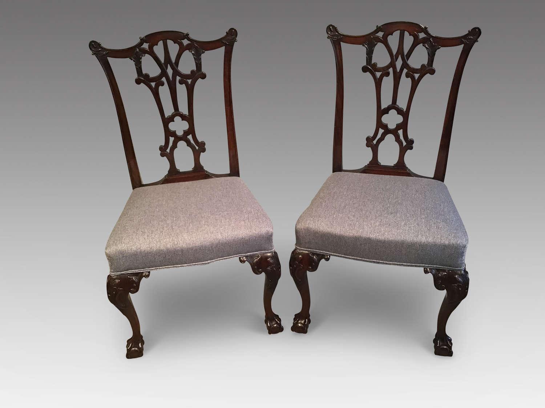 Pair of mahogany sidechairs