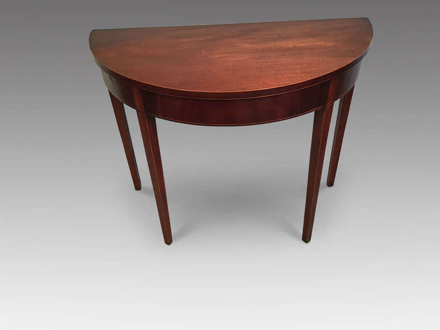 Georgian mahogany demi-lune table