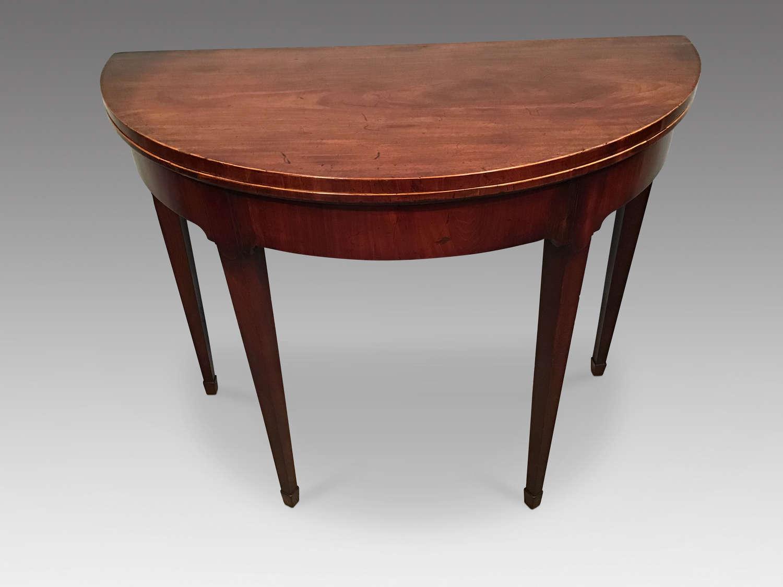 Georgian mahogany card table..