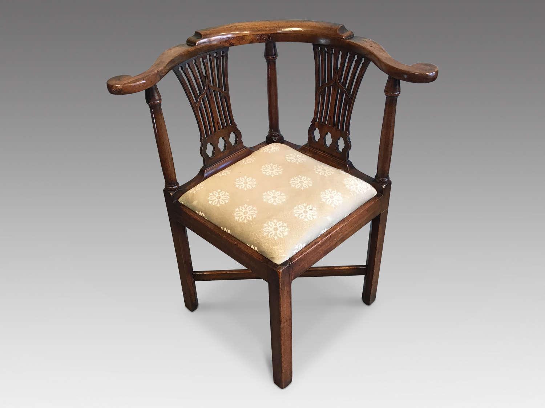 Antique Georgian corner chair
