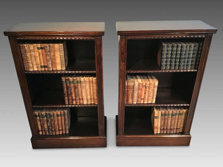 Pair of regency bookcases