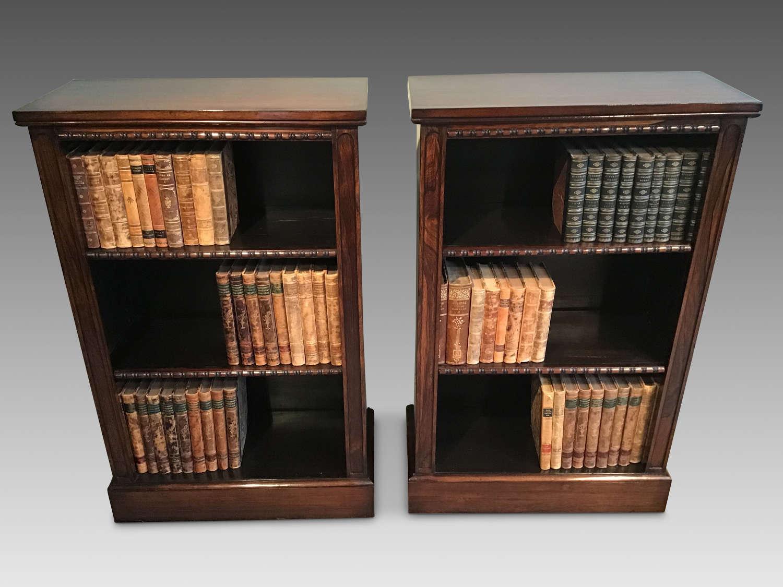 Pair of regency bookcases