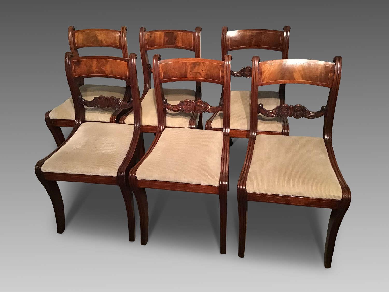 Set of six Georgian mahogany chairs