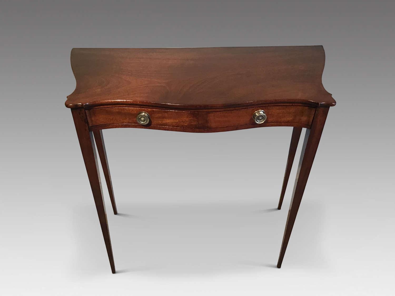 Antique mahogany sidetable