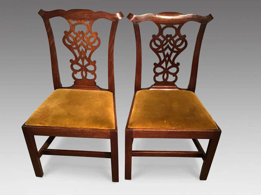 Pair of antique mahogany chairs