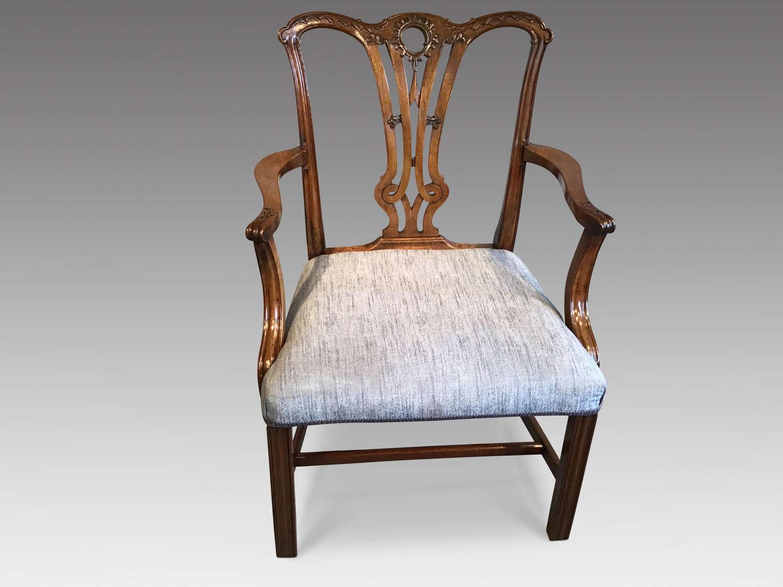 Georgian mahogany elbow chair