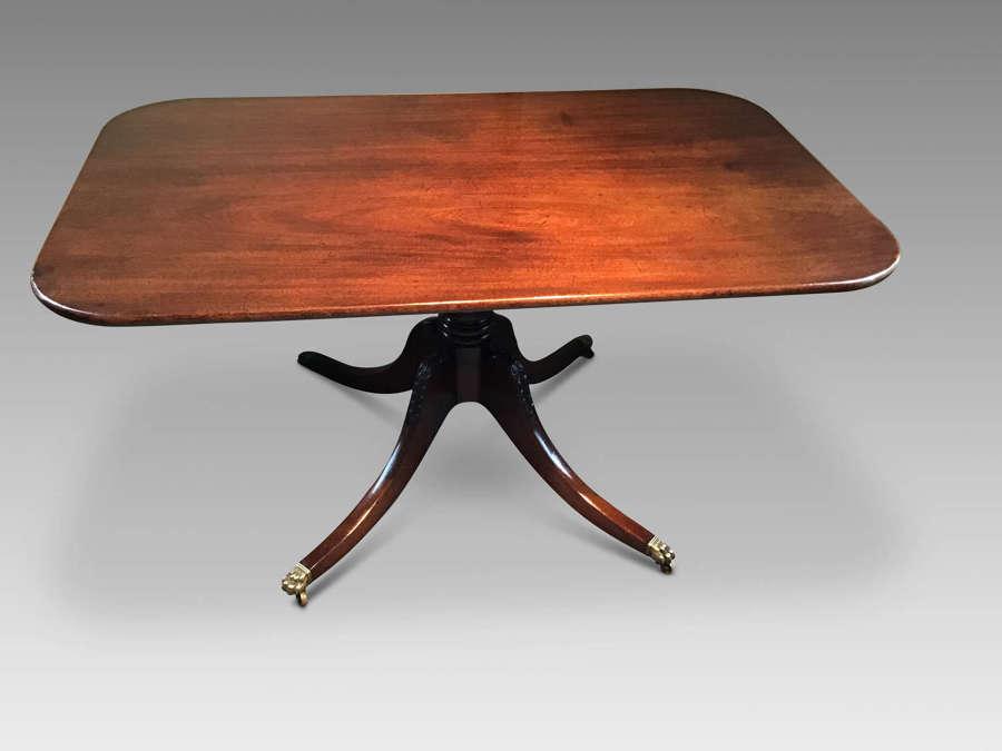 Antique mahogany breakfast table